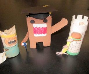 Paper Tube Creatures