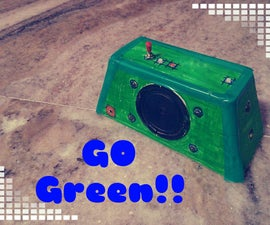 Go Green Powerbank W/ Speaker and LEDs