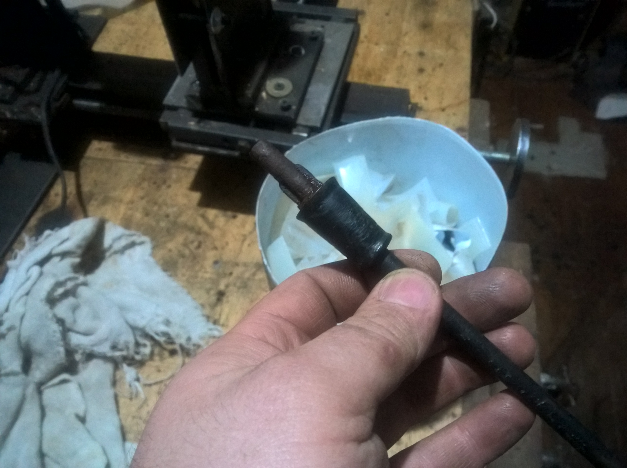 Picture of Old Screwdriver and Some Hdpe