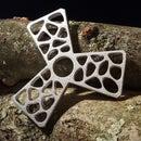 Metal Cast Fidget Spinner With Voronoi Pattern