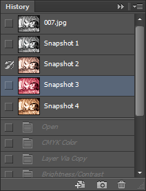 """Picture of Click the Check Box Before """"Snapshot 2"""" and Select """"Snapshot 3""""."""