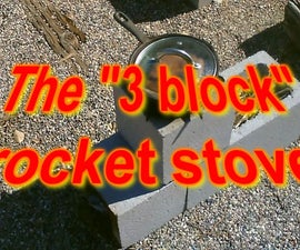 The (3 Block) Rocket Stove! - Concrete Rocket Stove - (and Smoker Too!) - Super Easy DIY