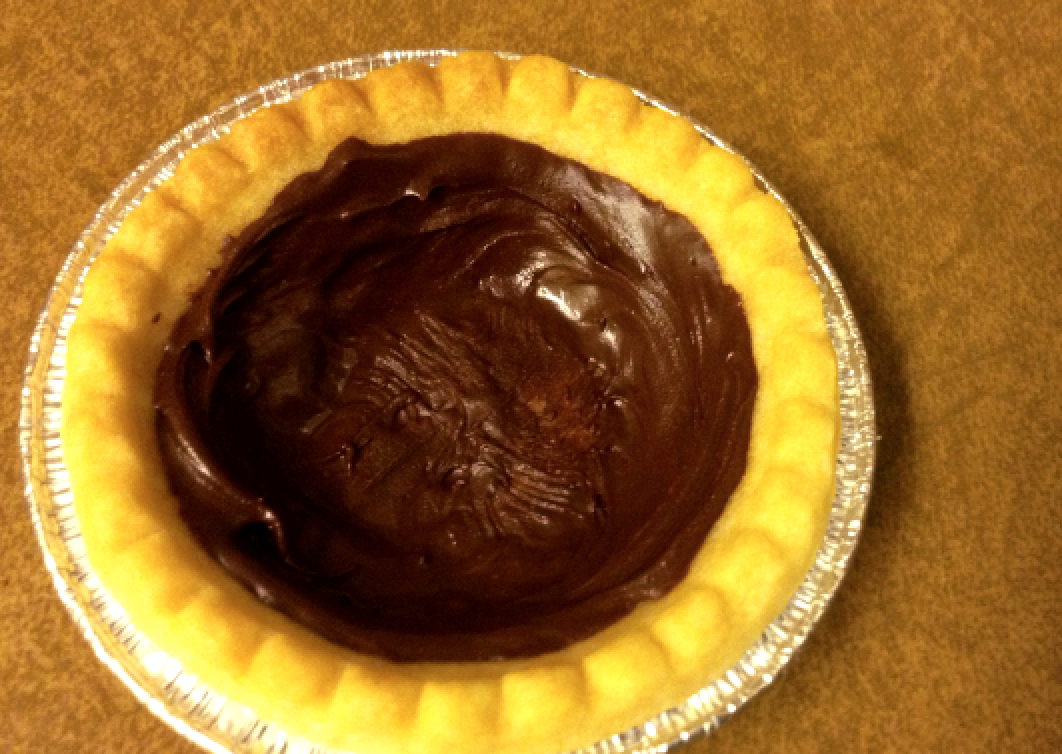 Picture of Lining the Tarts With Chocolate