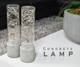 DIY Concrete Lamp - Led String Light