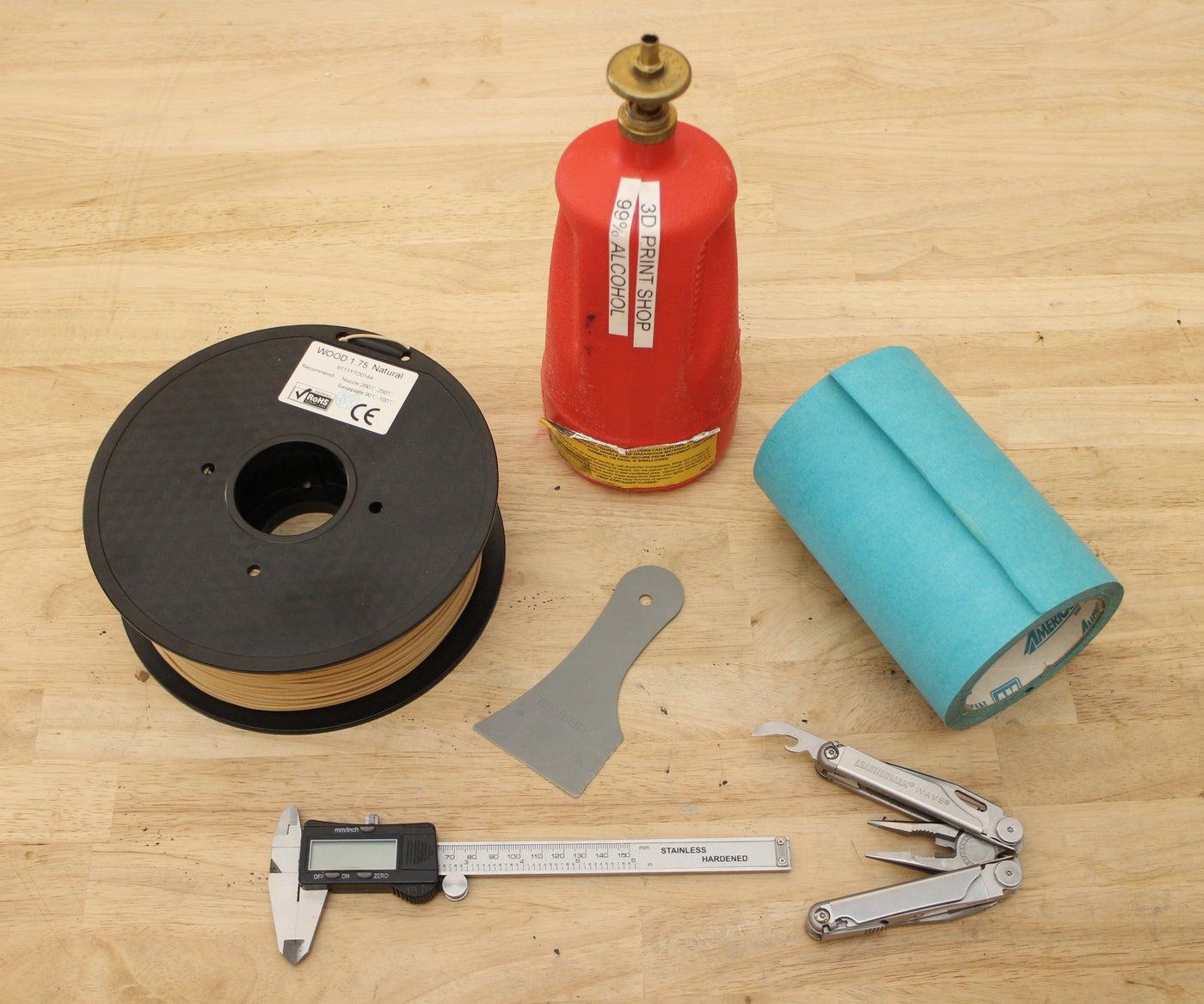 Tools + Materials for 3D Printing