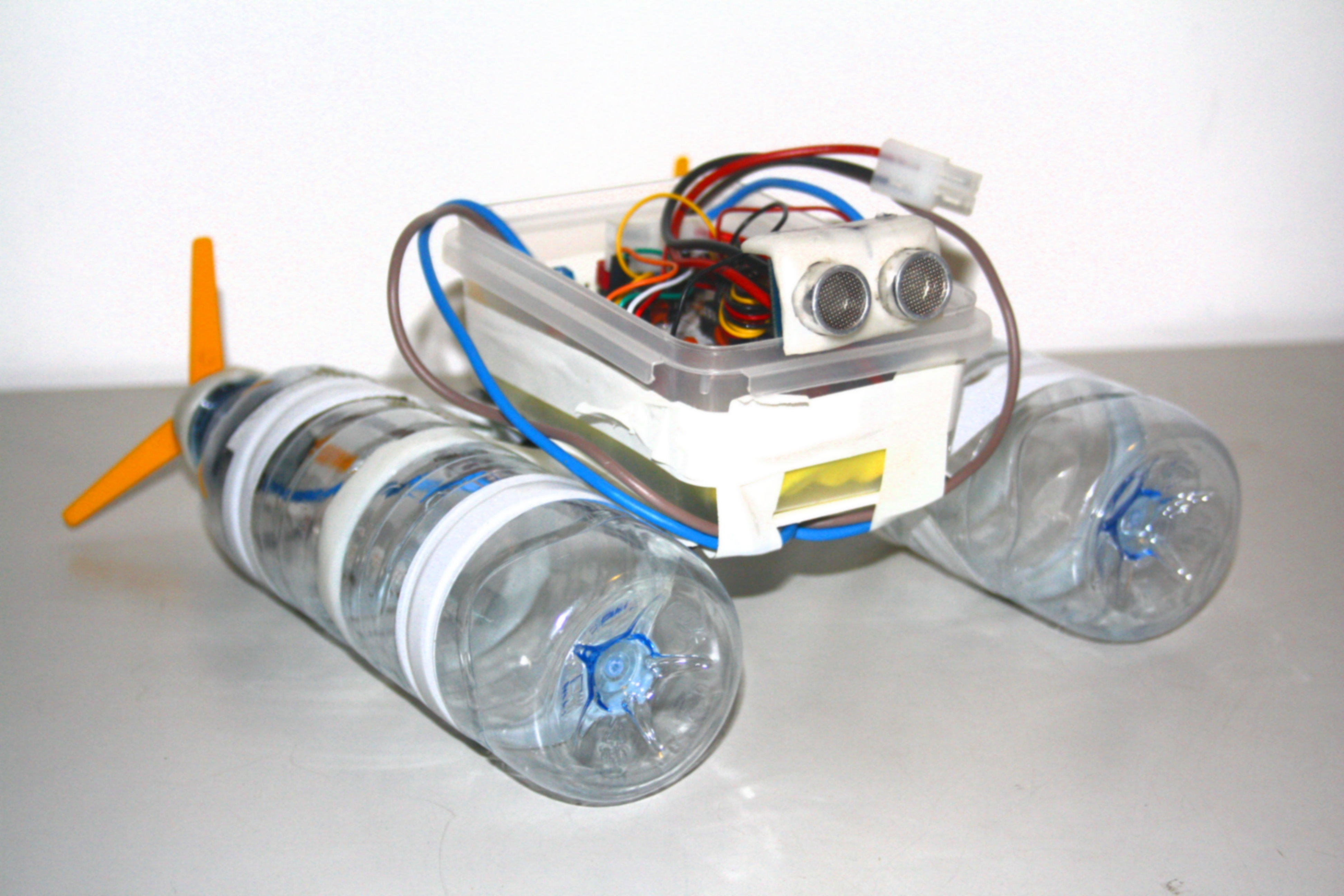 Picture of Build a Robot Boat Using Water Bottles