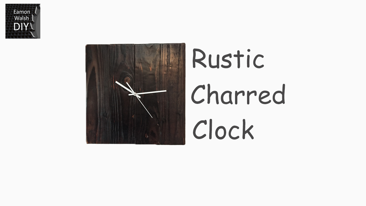 Picture of Rustic Charred Clock