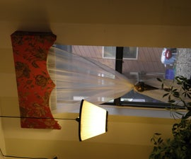 Cheap and Easy Fabric Covered Window Cornice