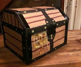 Simple Cardboard Pirate Treasure Chest Gift Box