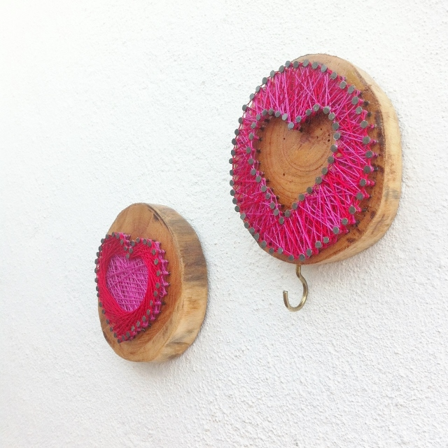 Picture of Rustiic String Heart Wall Art and Coat Hook
