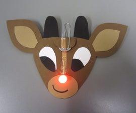 Red LED Nosed Reindeer
