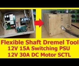 Flexible Shaft Dremel Tool With 12V 15A Switching PSU