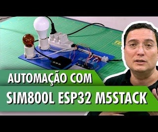 Automation With SIM800L ESP32 M5Stack