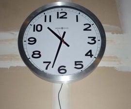 Quartz Clock Power Supply Hack (AA Battery to AC Power)