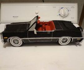 Paper Mache Cardboard Car.