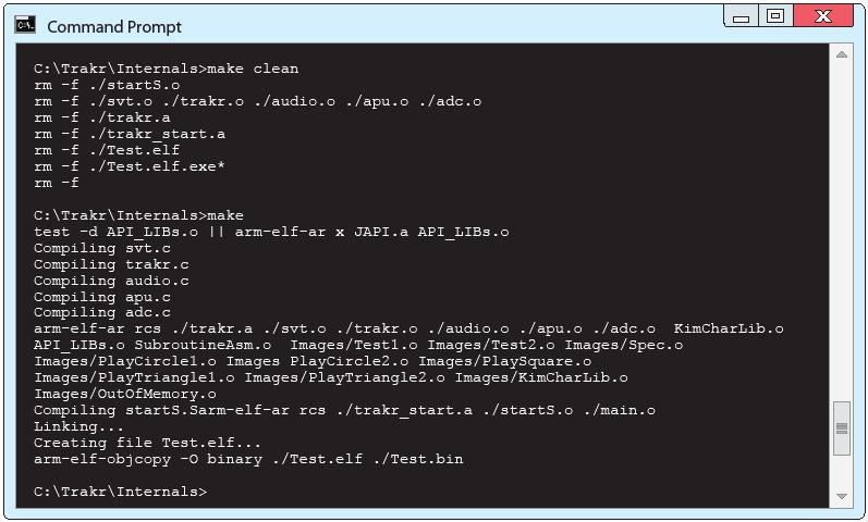 Picture of Download and Install the C Language Compiler for the Trakr