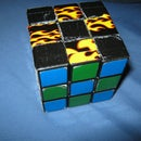 Customize Rubik's Cube With Duct Tape