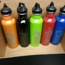 Two-tone Laser Etched Stainless water bottles