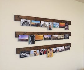 Wood & Clothespin Photography Hanging Display