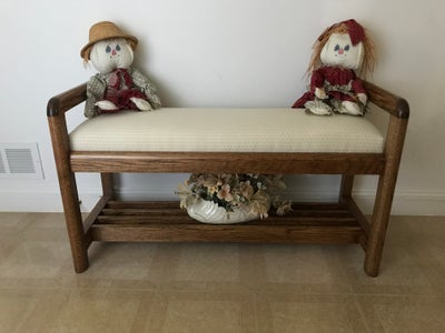 The Finished Entryway Bench All Ready for the Season