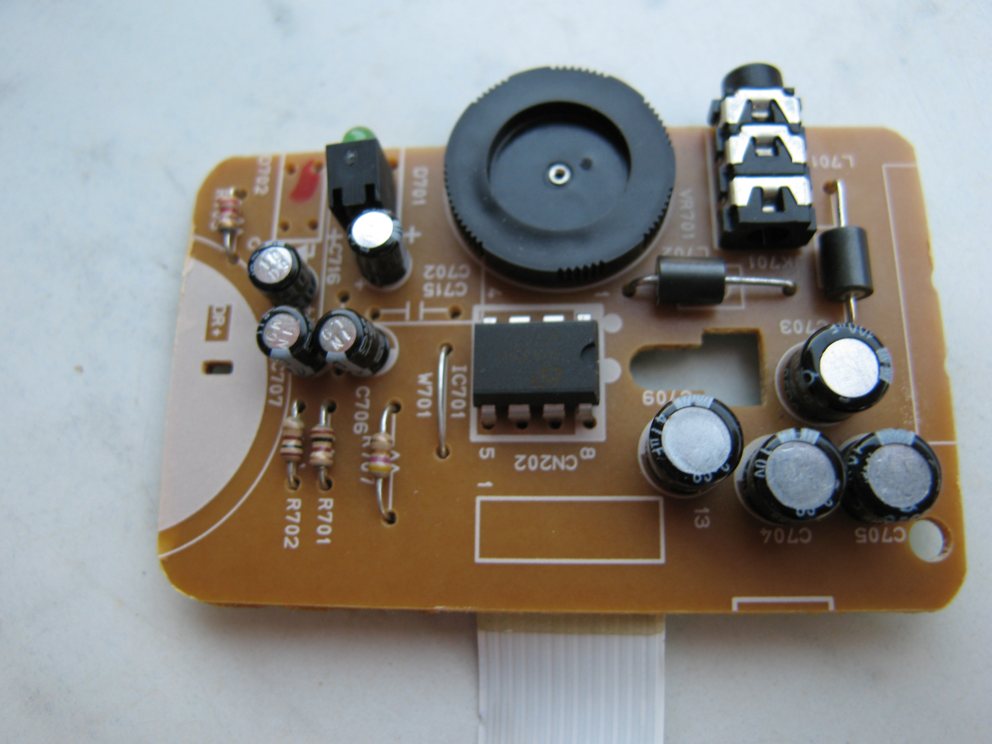 Picture of Shaping the Amplifier Board.
