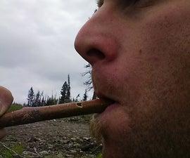 Stick bark whistle