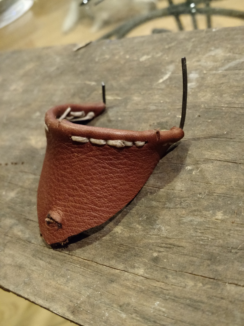 Picture of Sew the Leather to the Wire