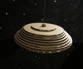 Laser Cut Cardboard Jupiter 2 Model