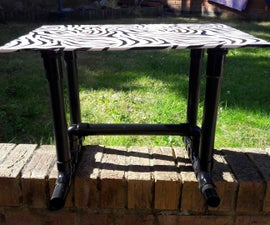 Super Simple DIY Coffee Table Made from (PVC) Waste/Drain Pipe and Fittings