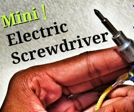"""Mini Electric Screwdriver Tool in a Keychain ! - """" World's Smallest Electric Screwdriver """""""