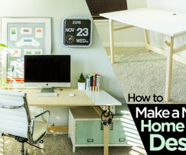 How to Make a Modern Home Office Desk