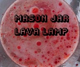 Mason Jar Chemical Lava Lamp