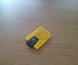 3D printable micro SD adapter