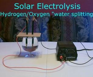 "Solar Hydrogen/Oxygen Generator DIY - Simple ""Electrolysis"" Using Sunlight!  (turns Water Into Fuel)"