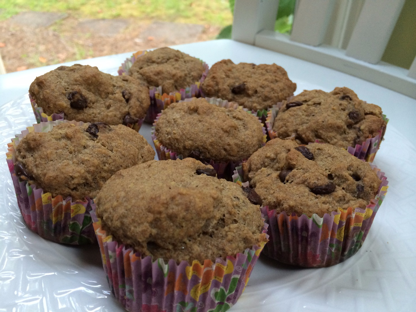 Picture of Gluten and Dairy-Free Dark Chocolate Chip Flaxseed Muffins