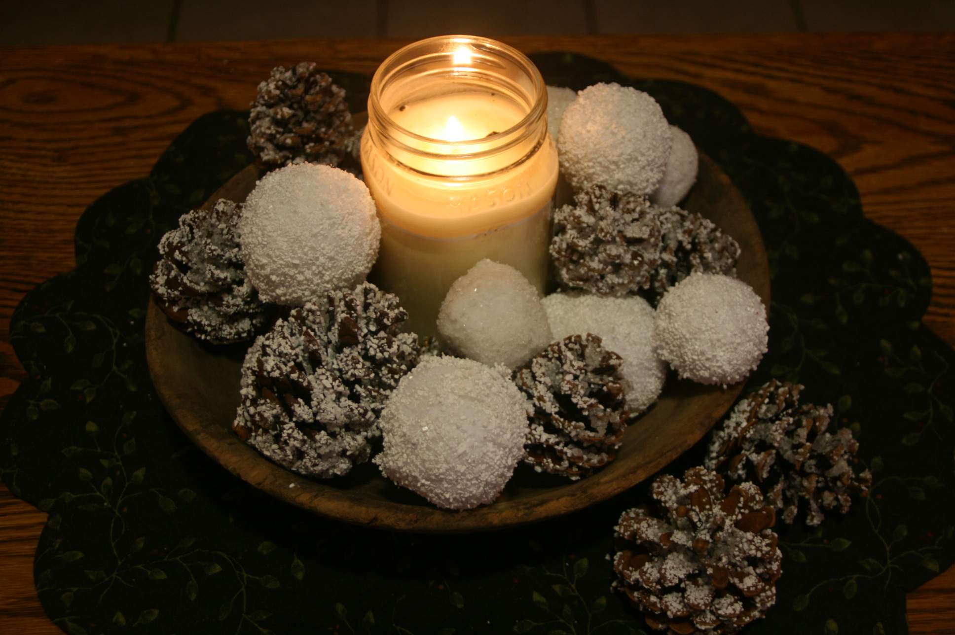 Picture of EASY & INEXPENSIVE  DIY Snowballs & Snow Covered Pine Cones