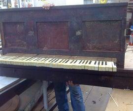 Antique Piano Shelf