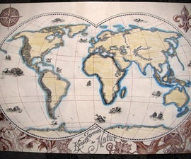 Quill and Ink Vintage World Map