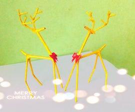 DIY Newspaper Reindeers || Christmas Reindeer Craft || DIY CraftsLane