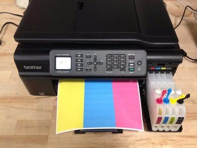 Test Print & Ink Drain