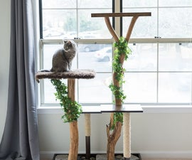 DIY Cat Tree Made From Dead Branches