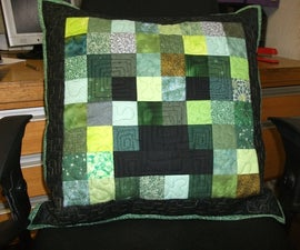 Minecraft creeper pillow / cushion