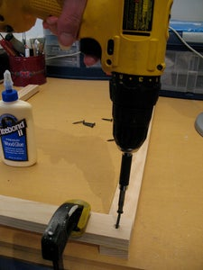 Drill Pilot Holes and Put in Screws