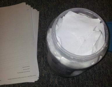 Get Your Blend on (Preparing the Paper Step 1)