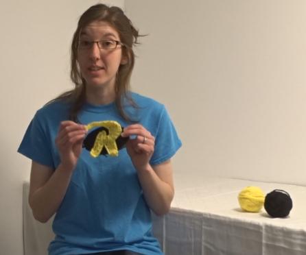 How to Crochet the Tim Drake Robin Logo