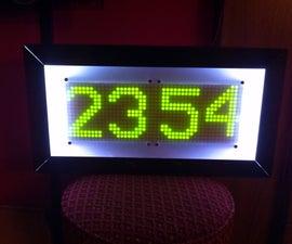 Rainbow Mega Pong Clock