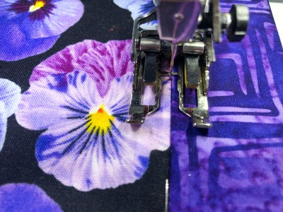 Sew Outer Fabric, Trim Fabrics and Lining to Batting