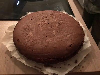 Making the Chocolate Cake.
