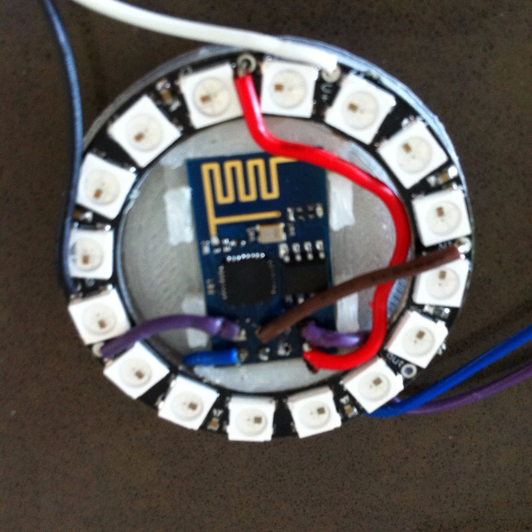 Picture of Neopixel, ESP8266 and Custom 3d Printed Holder