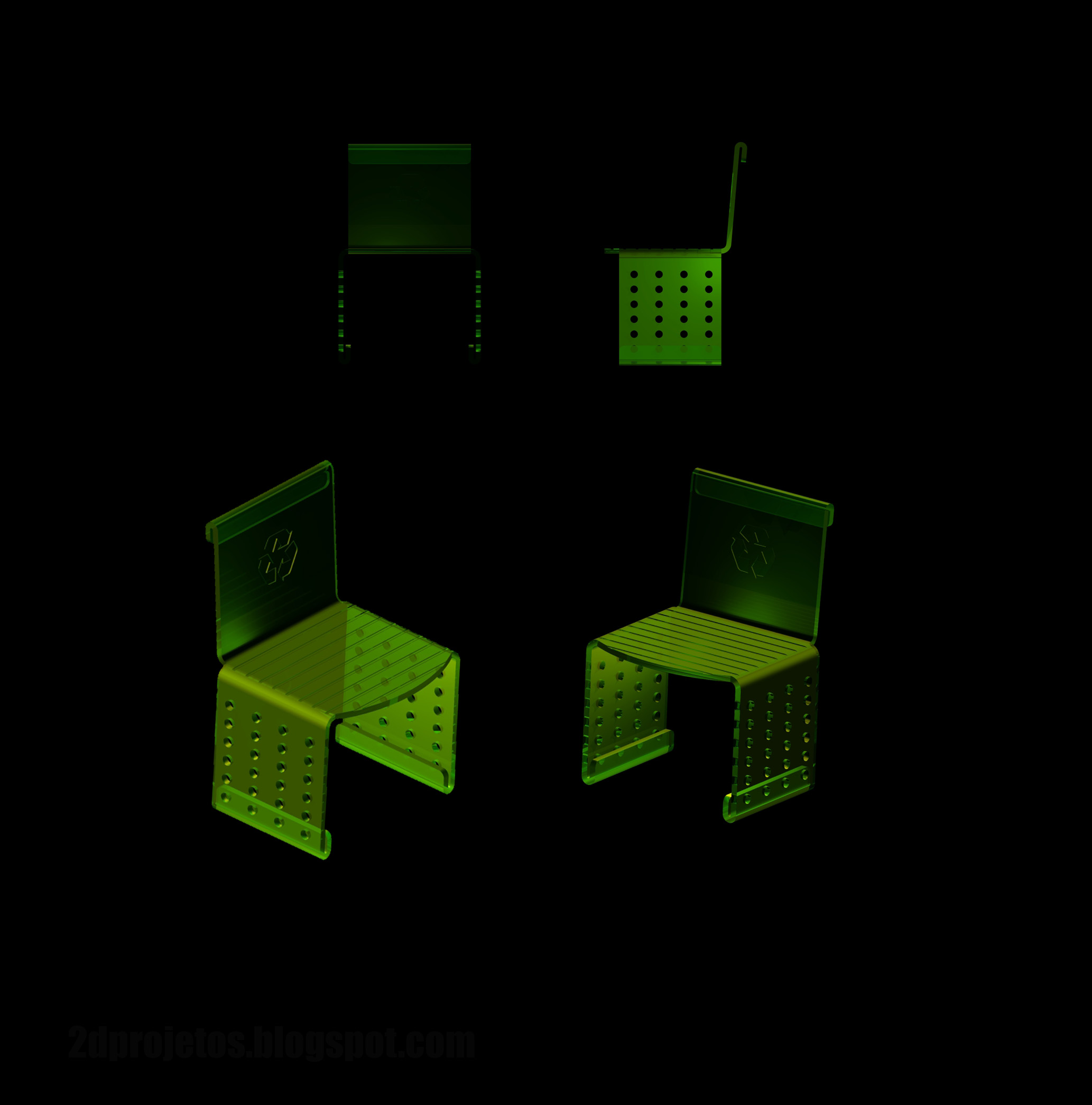 Picture of Chair of recycled acrylic